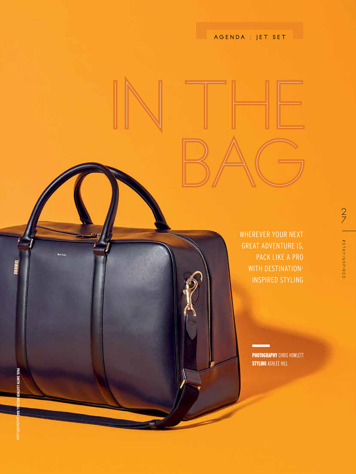 mens bag, fashion still for magazine publication, still life photography from London jewellery and product photographer Chris howlett