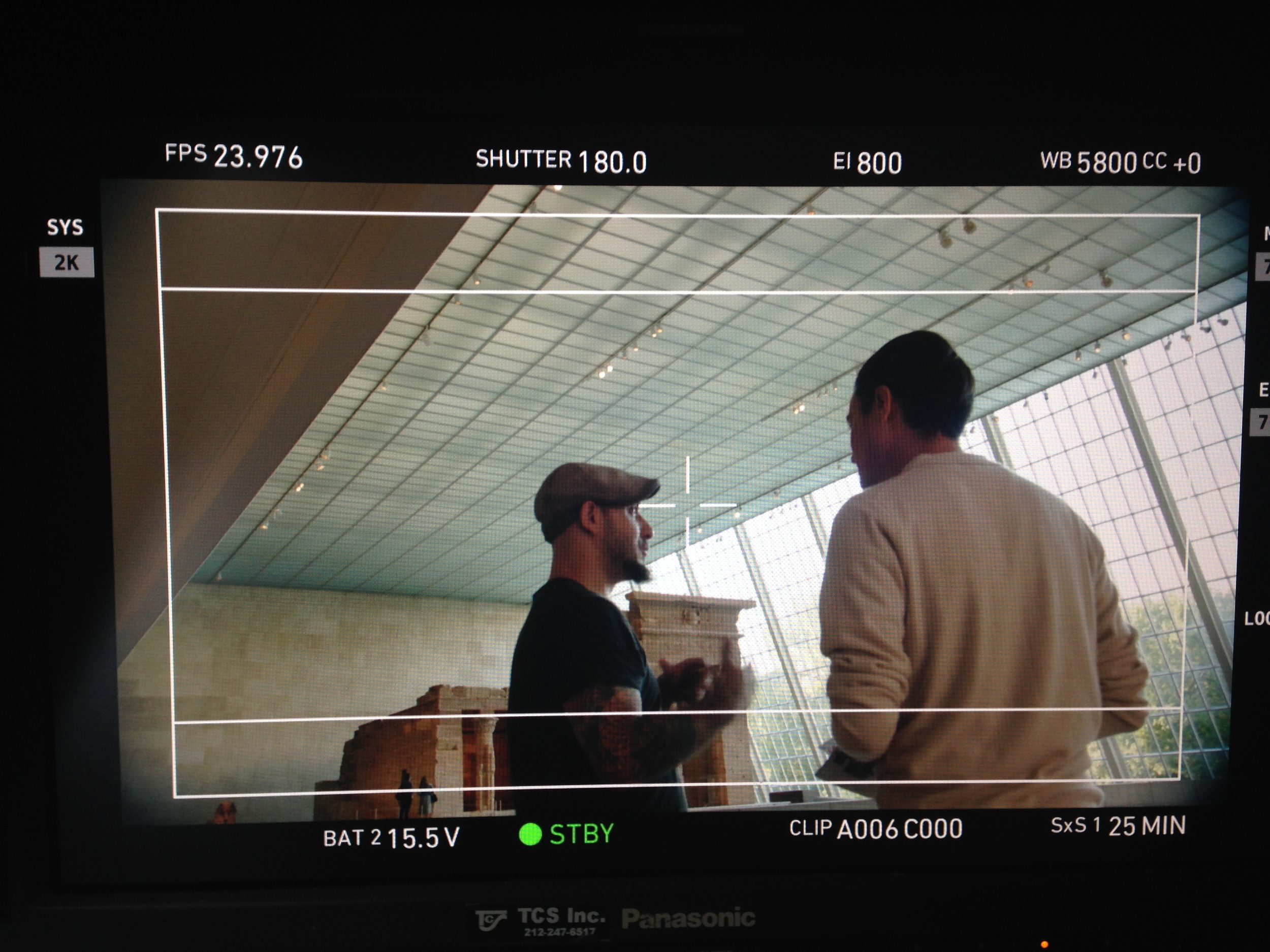 """Working w/ Director Keith Ehrlich for the new """"Metropolitan App"""" commercial."""