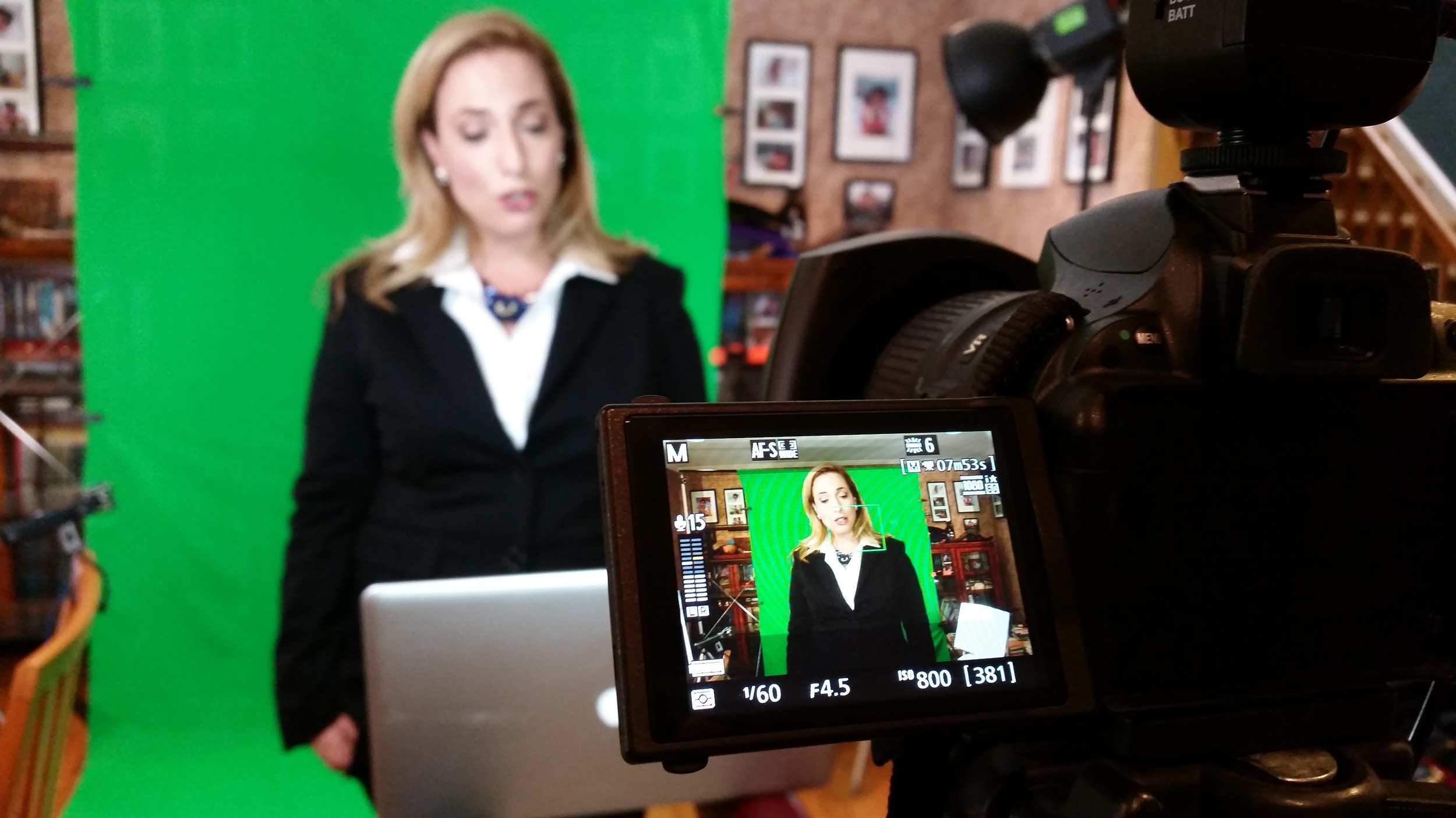 Recording content for an Entrepreneur's online business.