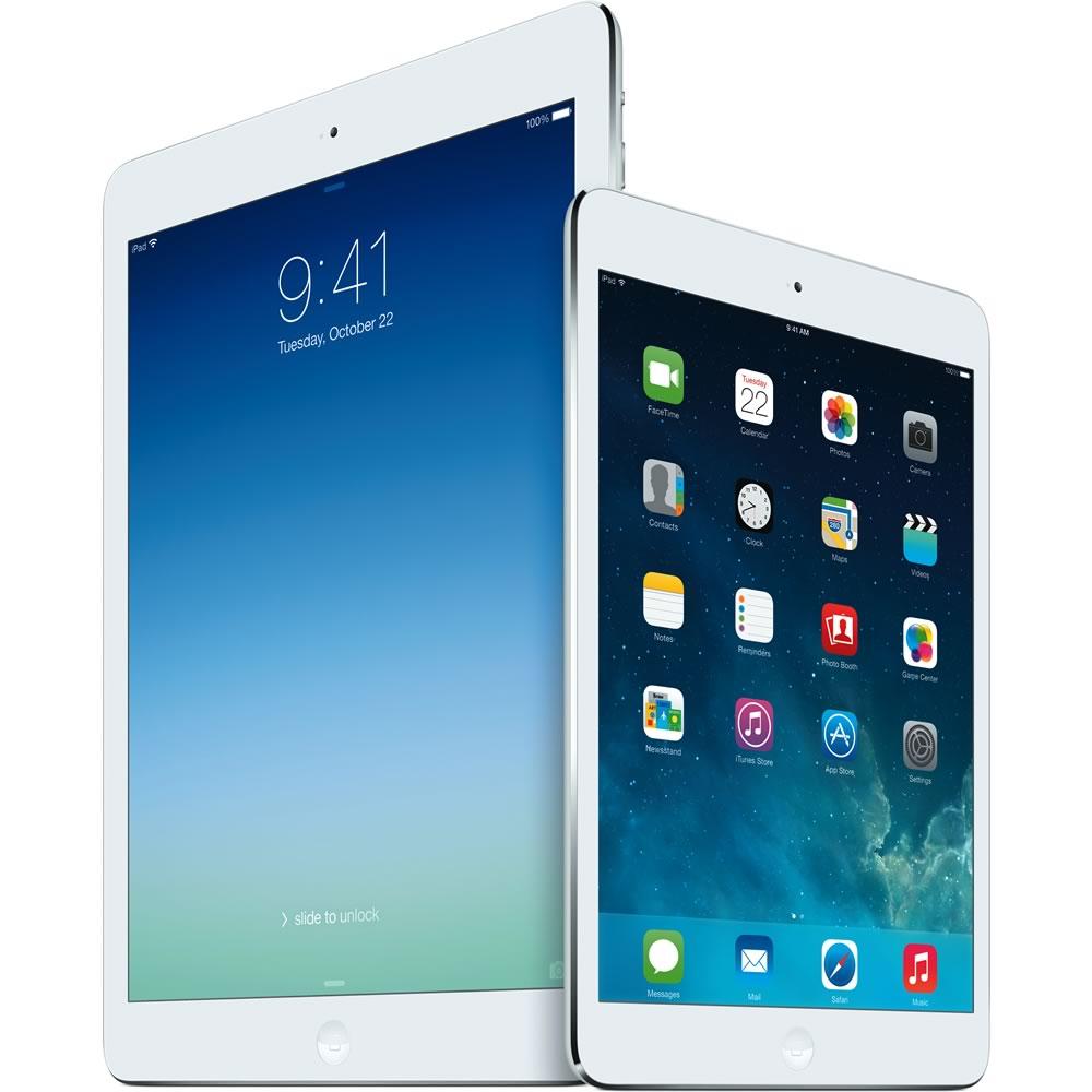 Apple iPad Air 2 and Apple iPad Mini 2 with retina Display