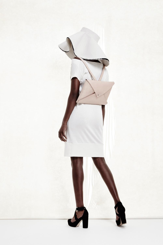 Corona Hat + Envelope Backpack + Slouch Dress