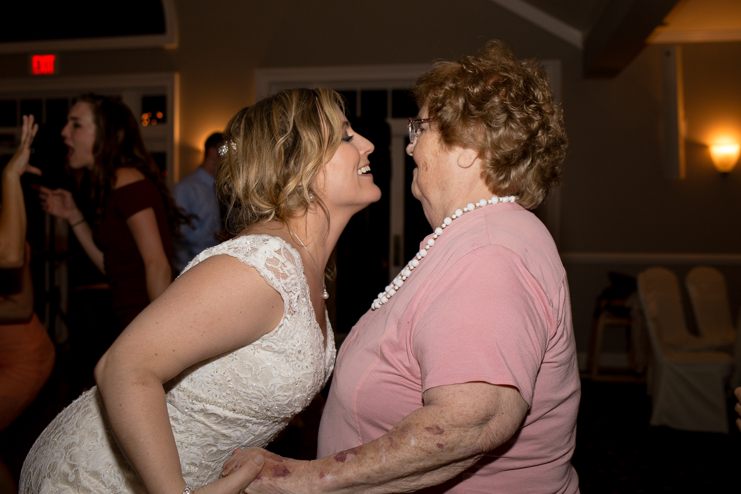 Proof that my Nana was at the very least able to dance half a song in September 2017 with the bride, her granddaughter Stephany.
