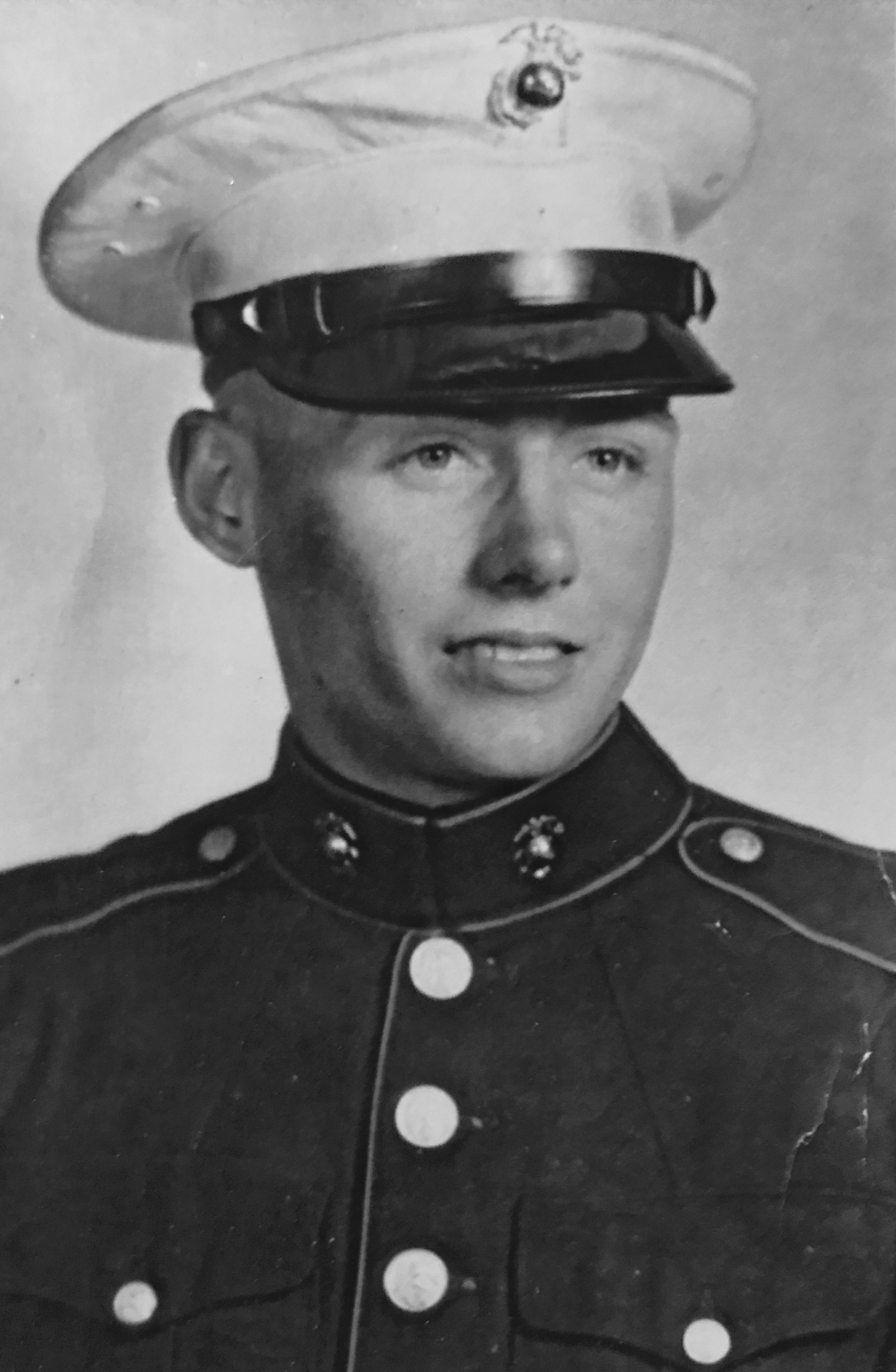 Papa's military photo (It's easy to see why Nana fell in love with him...and where our entire family gets their vanity from. What a looker!)