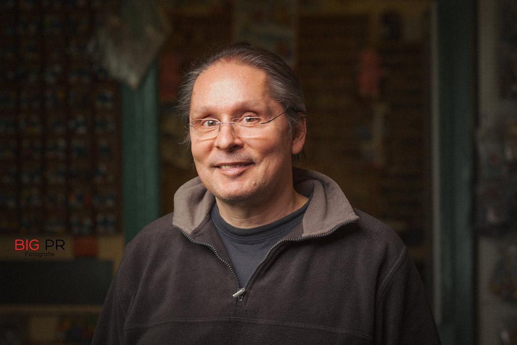 Ebenfalls ein Unikum: Ladenbetreiber Thomas Siebrecht