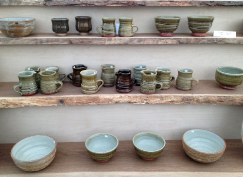 Small jugs, mugs, desert bowls and noodle bowls.