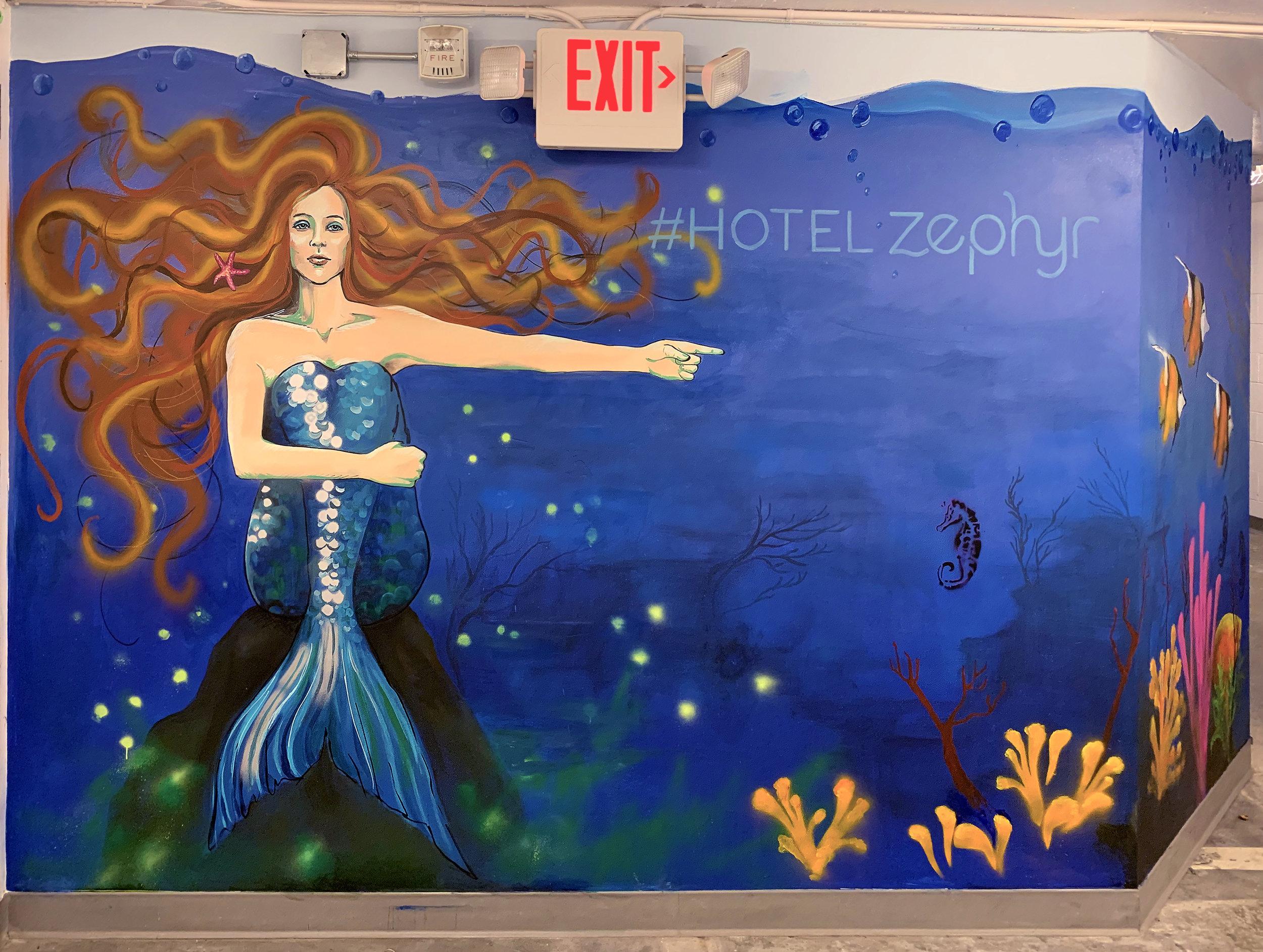Hotel Zephyr Corridor Mural