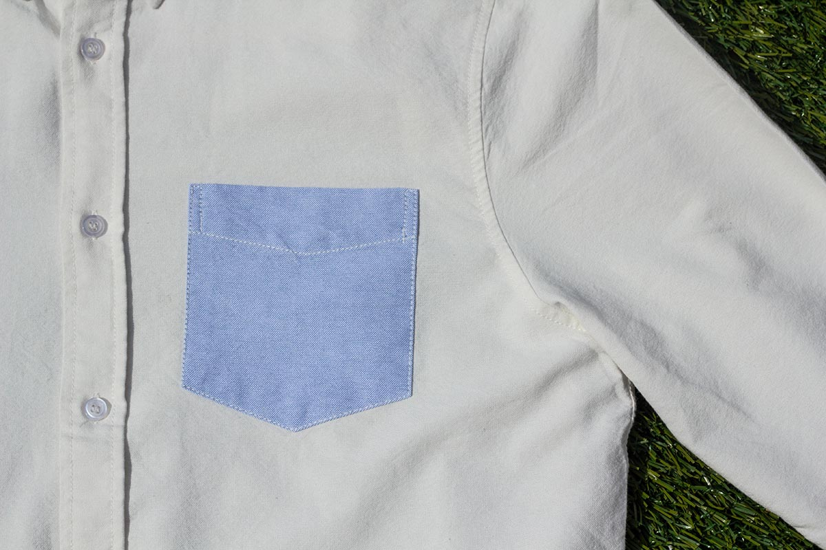 Detail: Contrast Pocket on the Founders OCBD