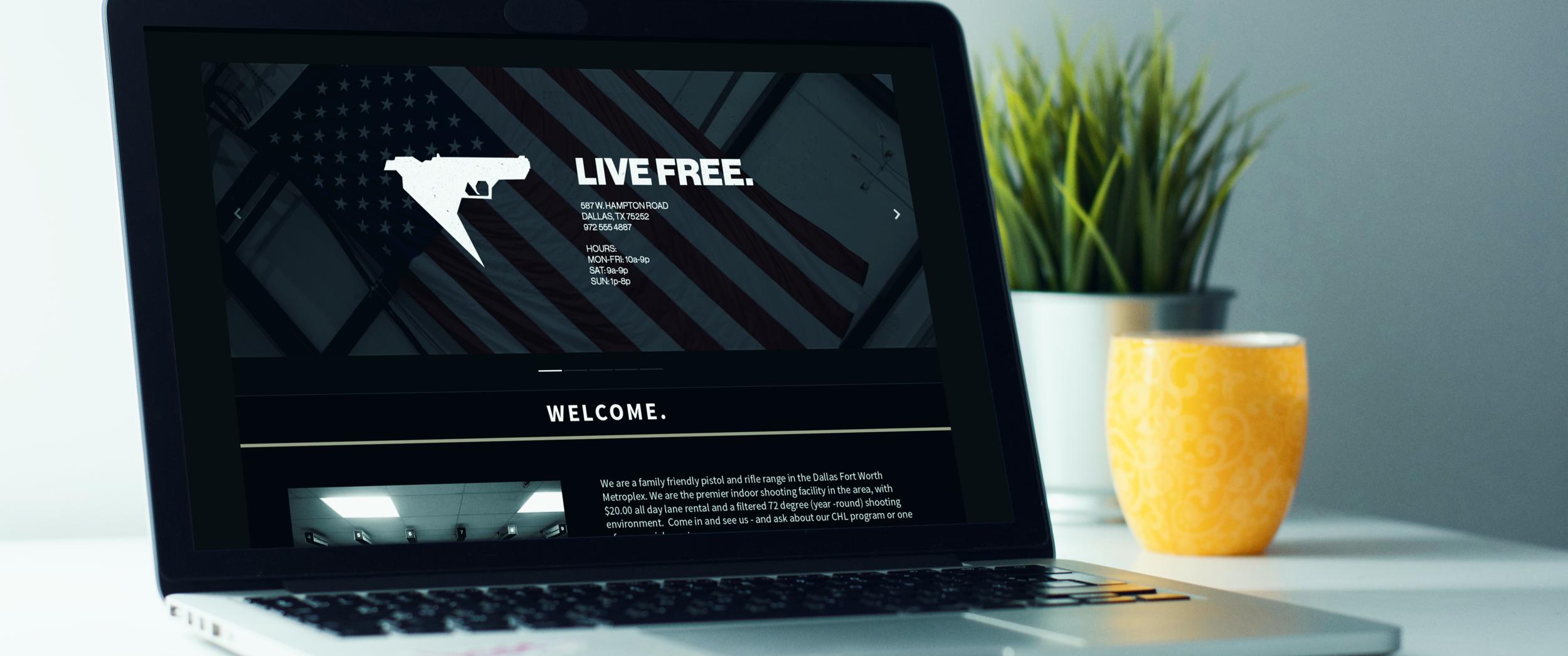 Falcon Gun Range - Branding + Web Design