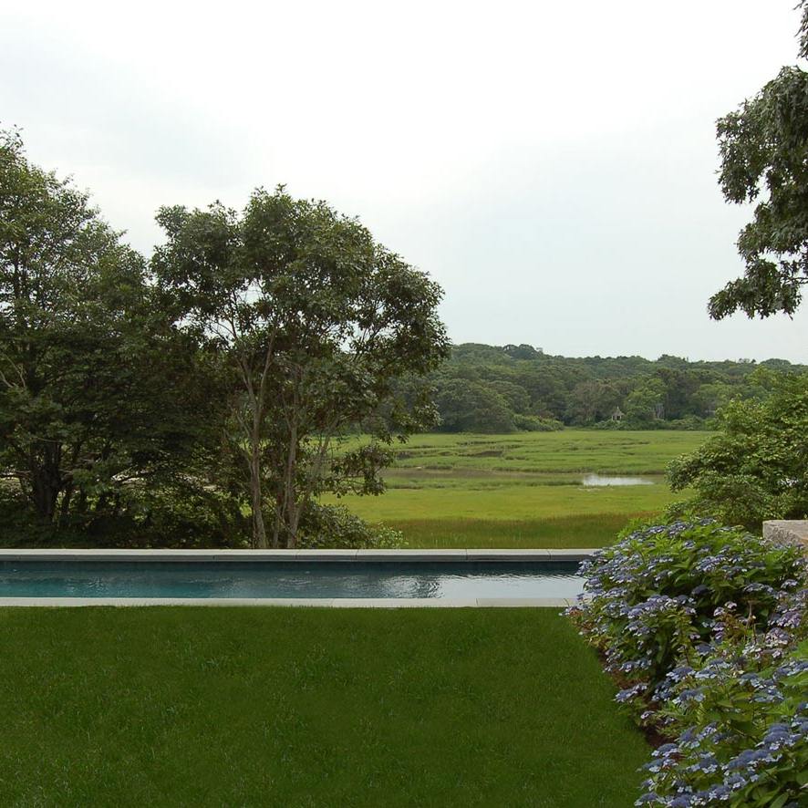 Cape Cod Landscape Design Pool and Marsh