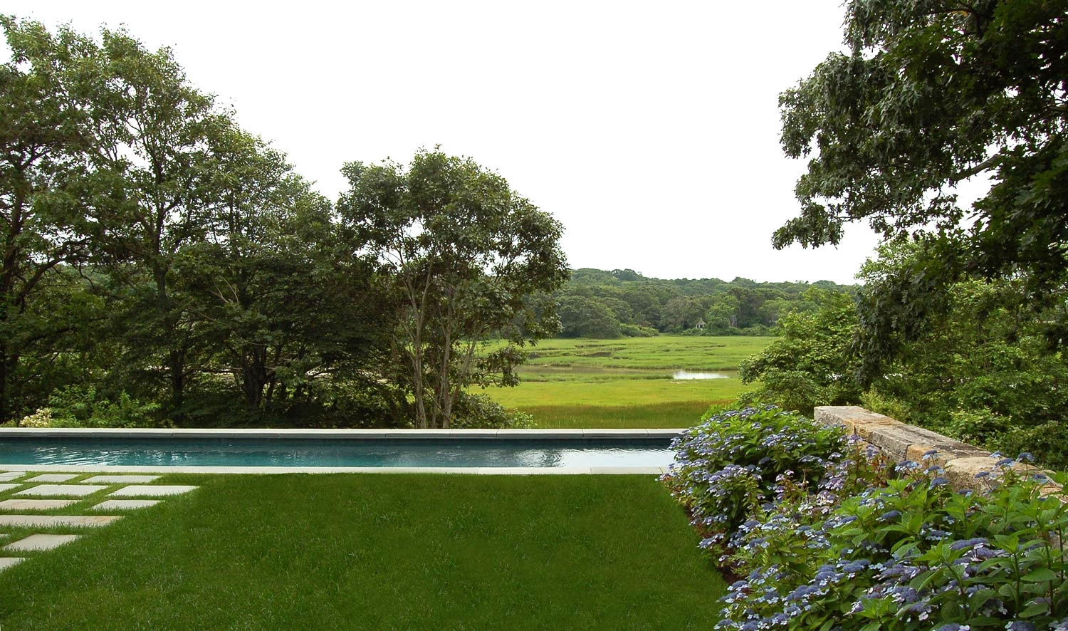 Landscape and Pool Design -West Falmouth, Massachusetts