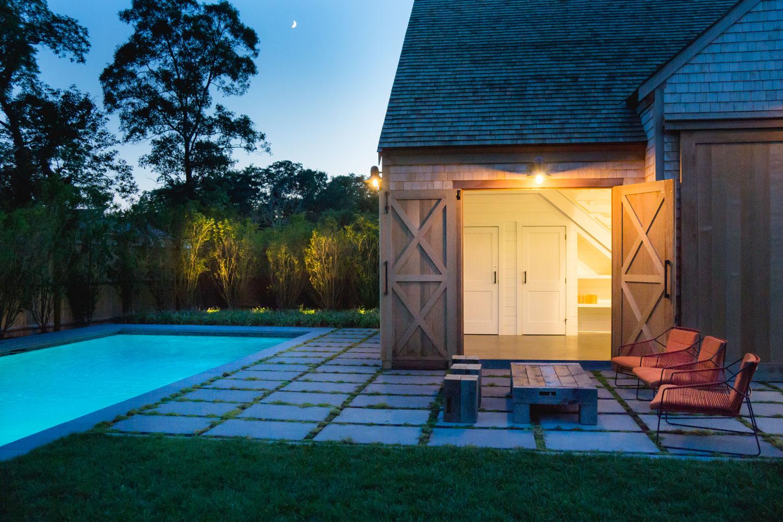 A Modern Landscape Design for a Cape Cod Pool House