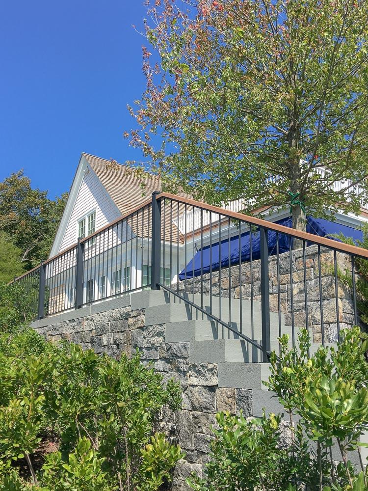 Ipe wood handrail