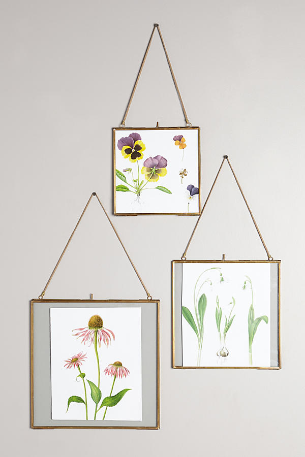 Anthropologie Hinged Hanging Picture Frames - Bronze