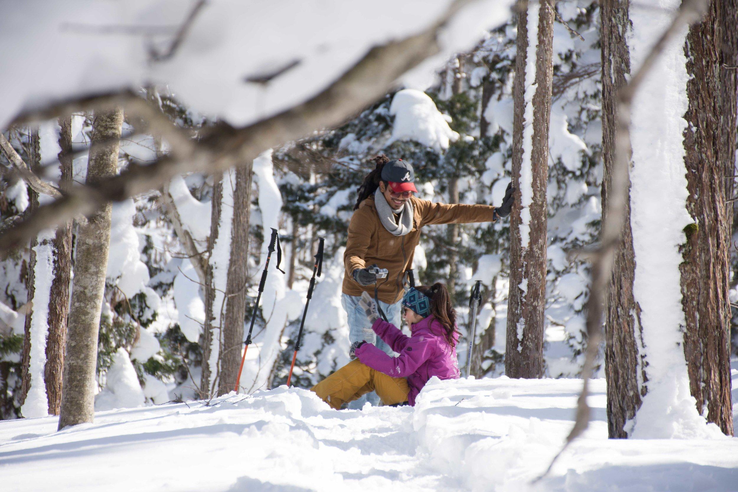 nozawa onsen snow shoe tour