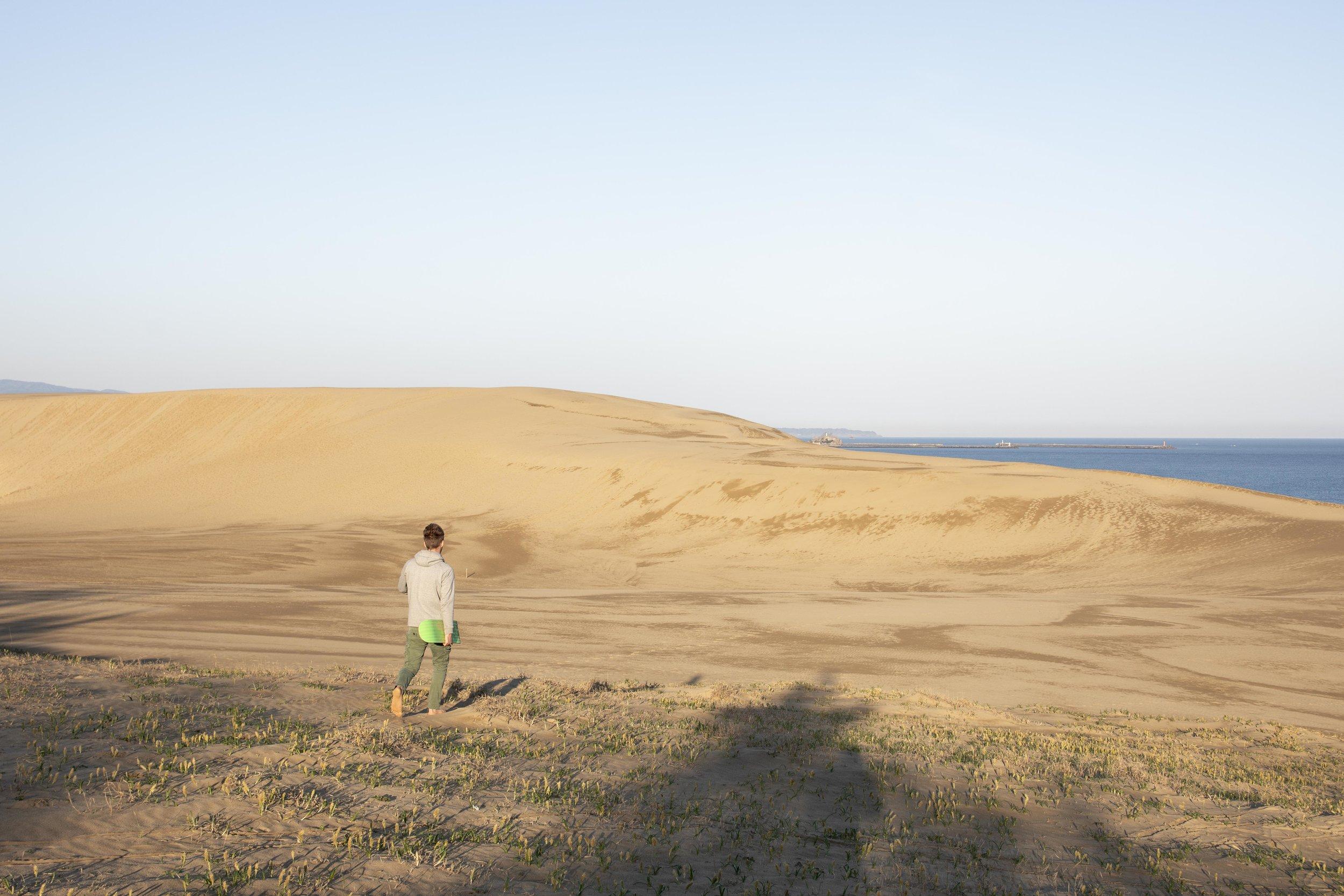 Sandboarding in Tottori