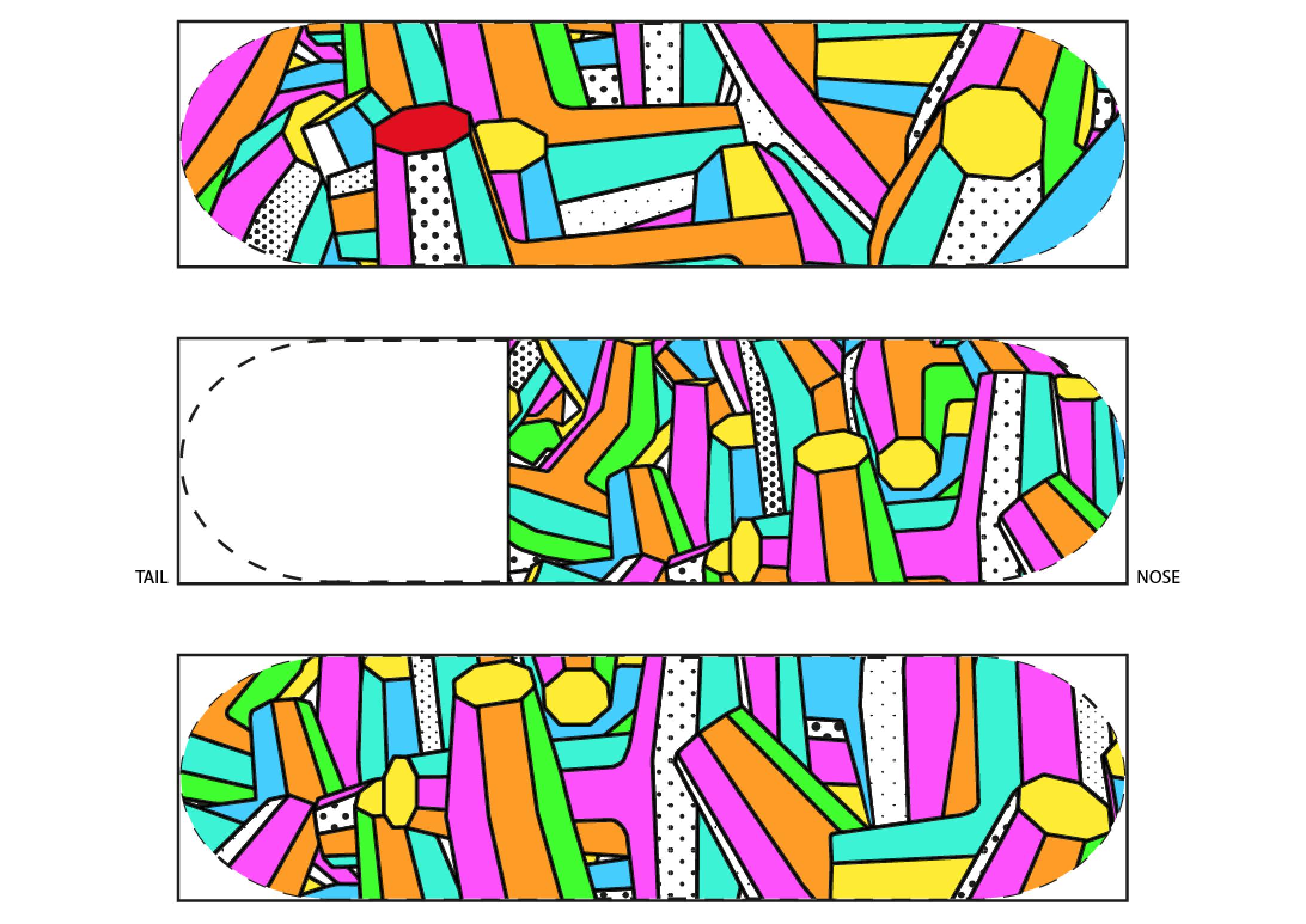 skateboard graphics on Illustrator #dothingsyoulove