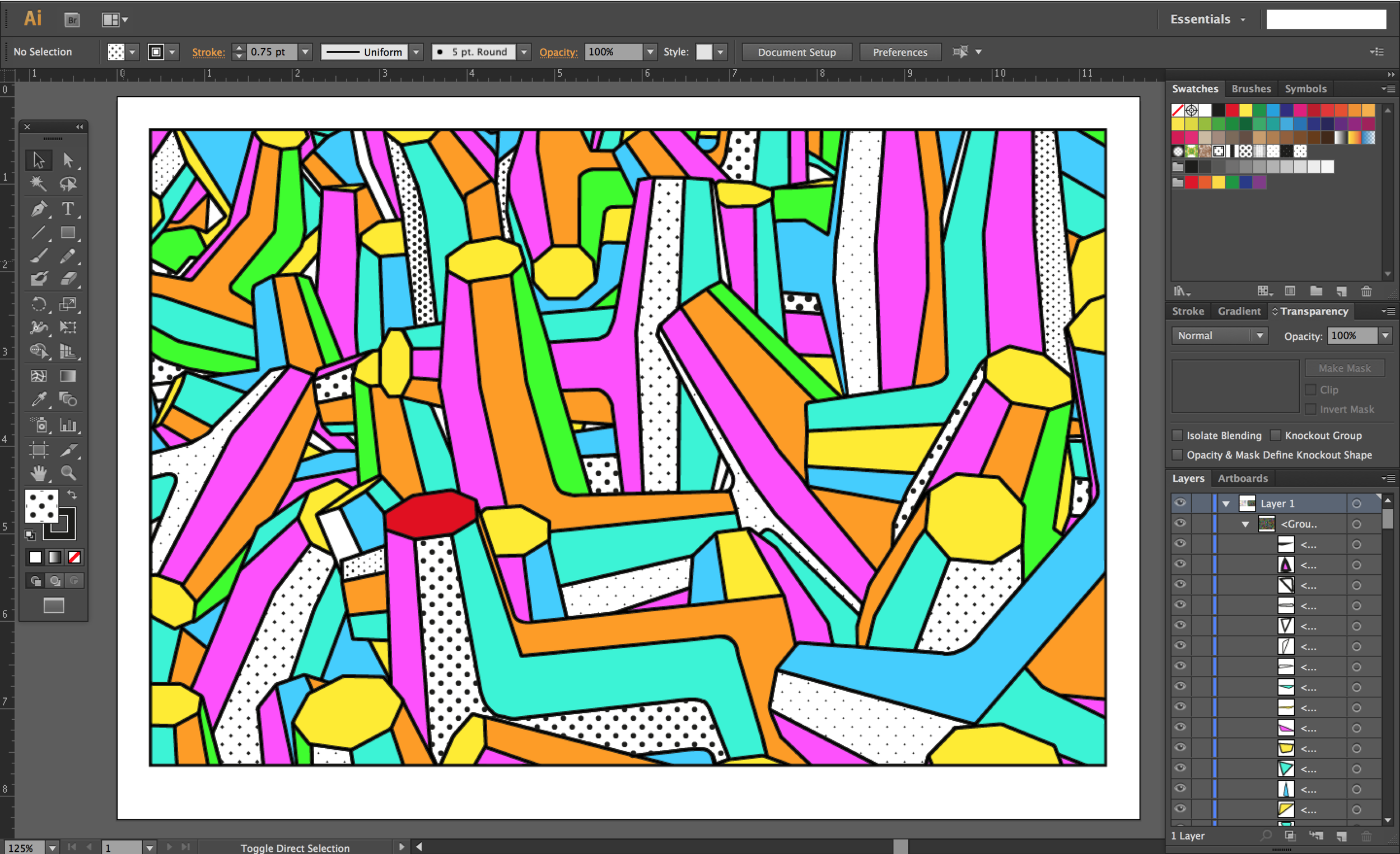 Vectorised in Illustrator for other applications.
