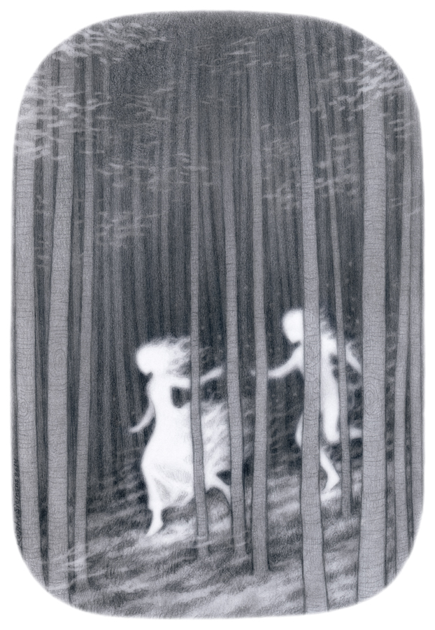 Ghosts    graphite on paper