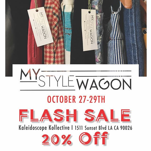 @my_style_wagon flash sale starting today through the weekend @kaleidoscopekollective. Get an early head start on your holiday shopping or simply treat yourself. #shopsmall #echopark #vintagestyle #vintageclothing