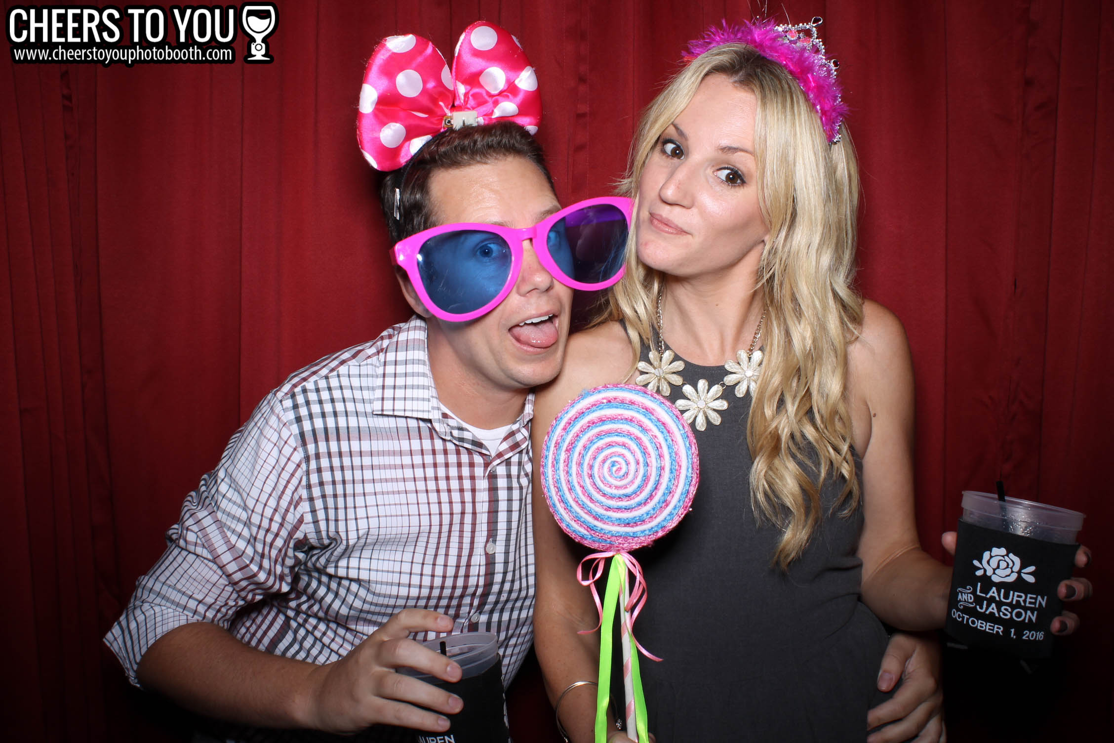 Cheers To You Photo Booth | Huntington Beach, CA | Lauren & Jason's Wedding