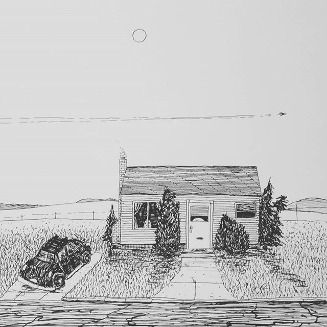 #shitty #dreamhouse #evenshittier #dreamcar  #penandink #art