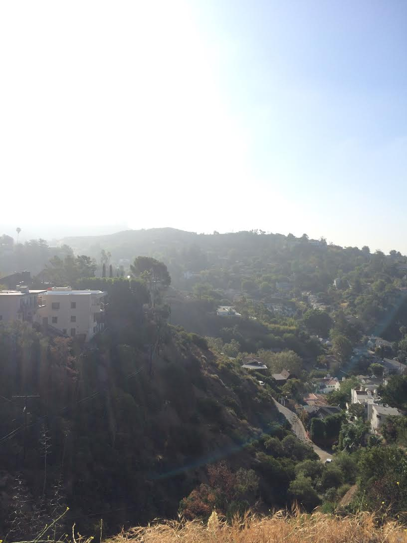 "While trying to catch a glimpse of the Hollywood sign, I came across this touristy view that moved me to actual tears. I immediately texted this picture to my mom and she said something like ""Ah! L.A. life!"""