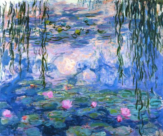 Water Lilies (Nymphéas)by Claude Monet (1919) oil paint