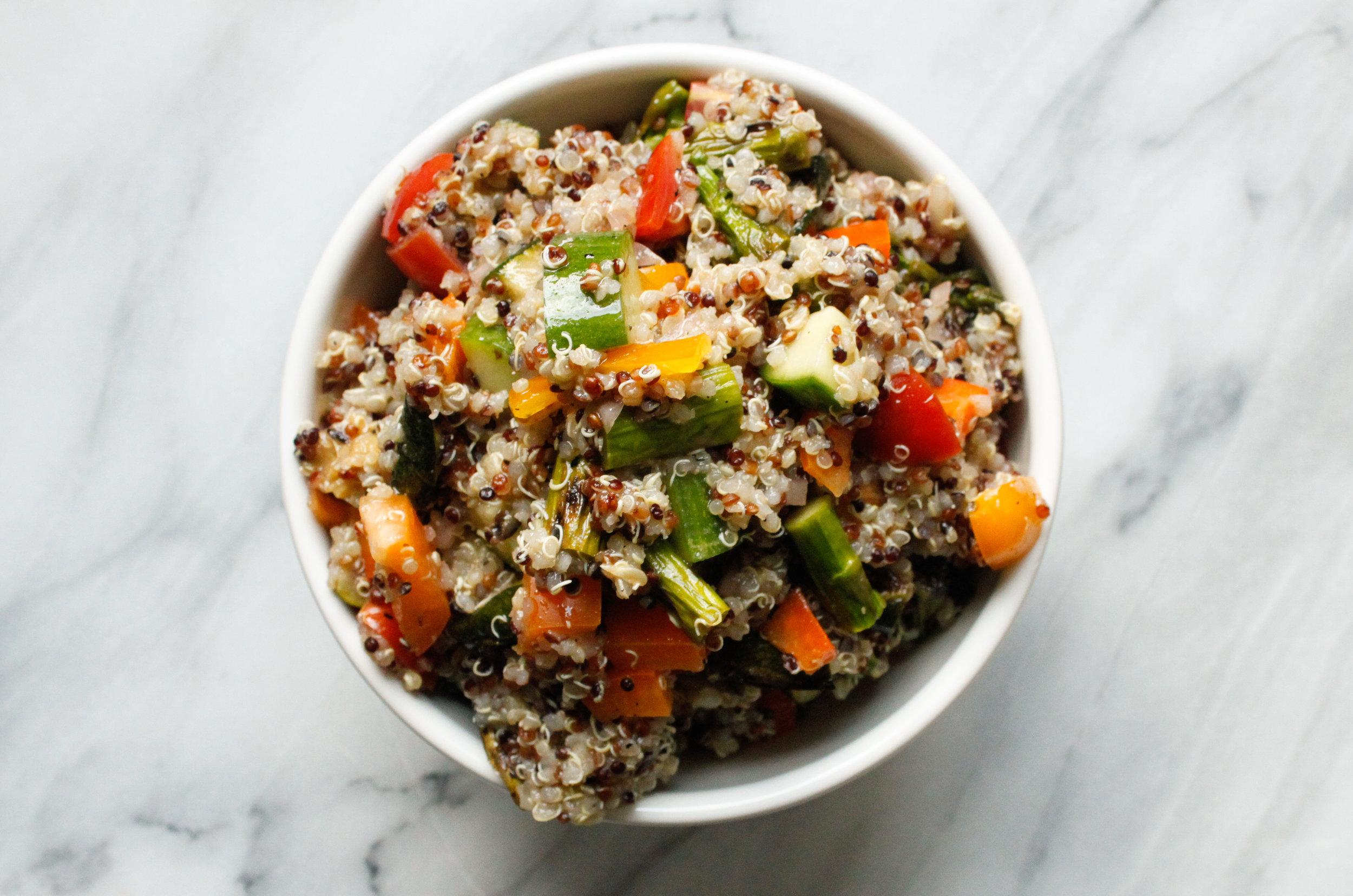 Grilled Veggie Quinoa Salad