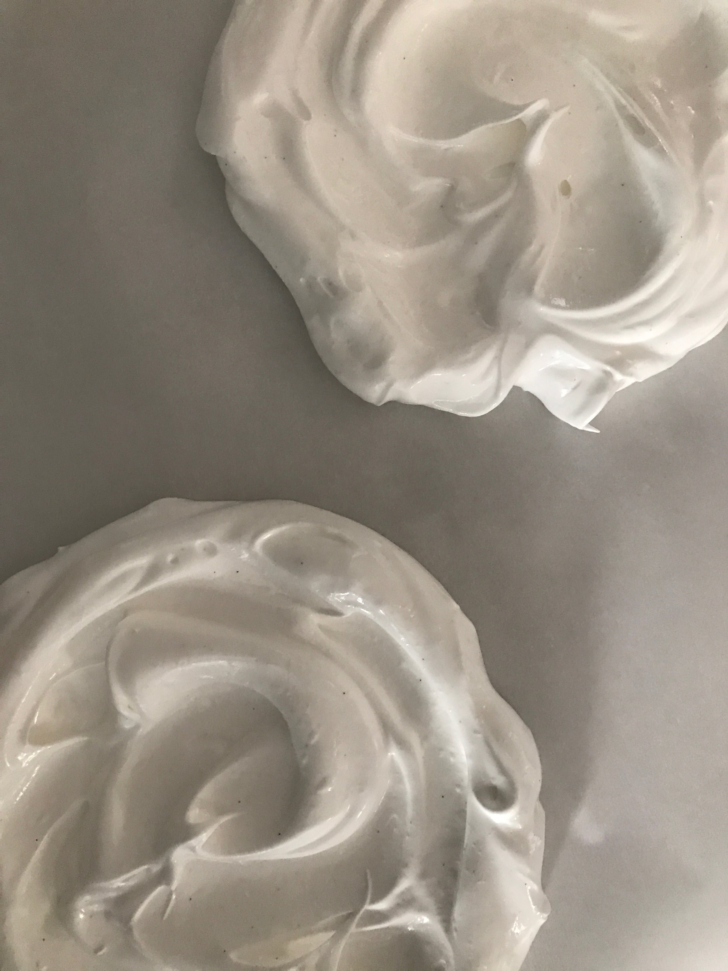 this is what your meringue should look like pre-oven!