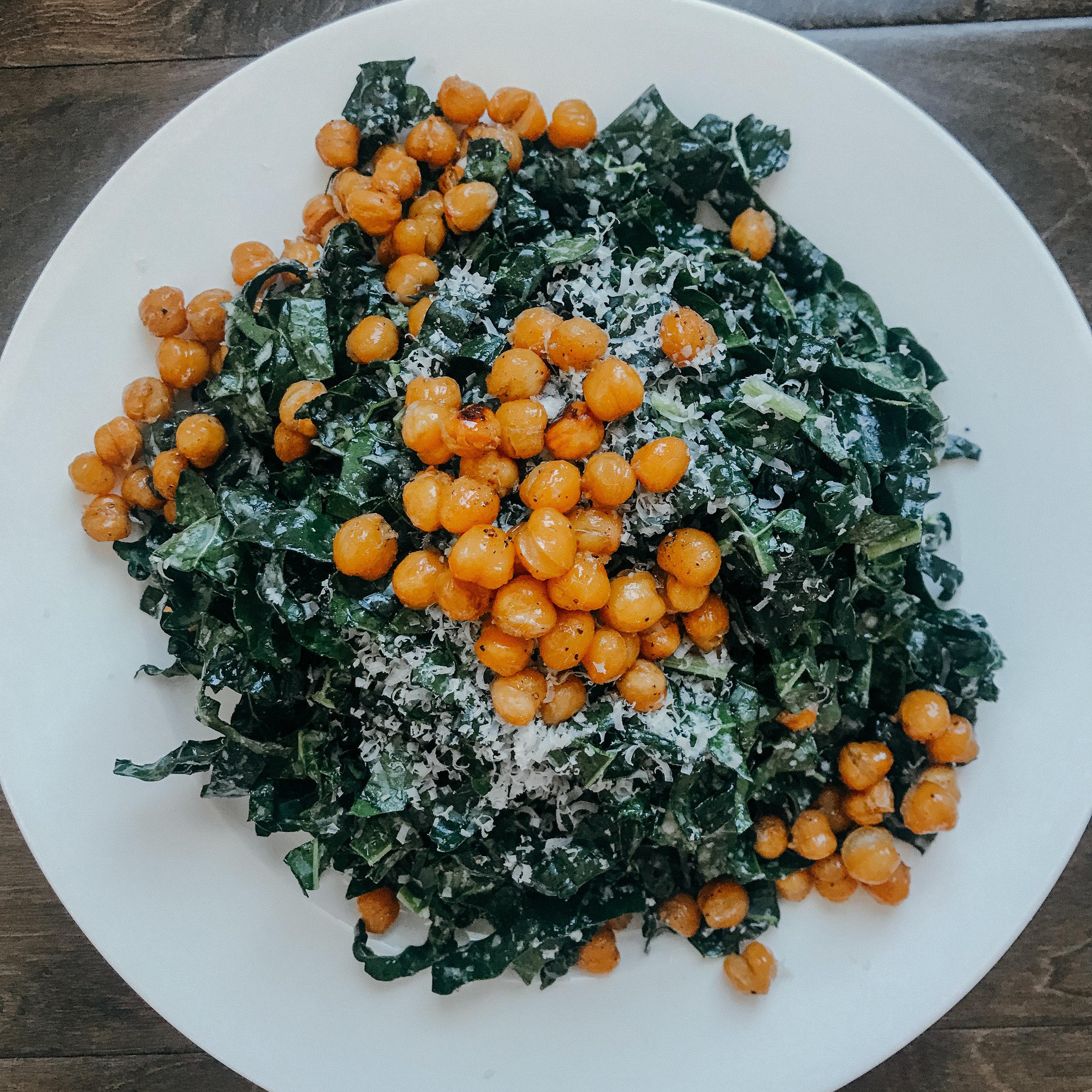 Citrus Parmesan Kale Salad