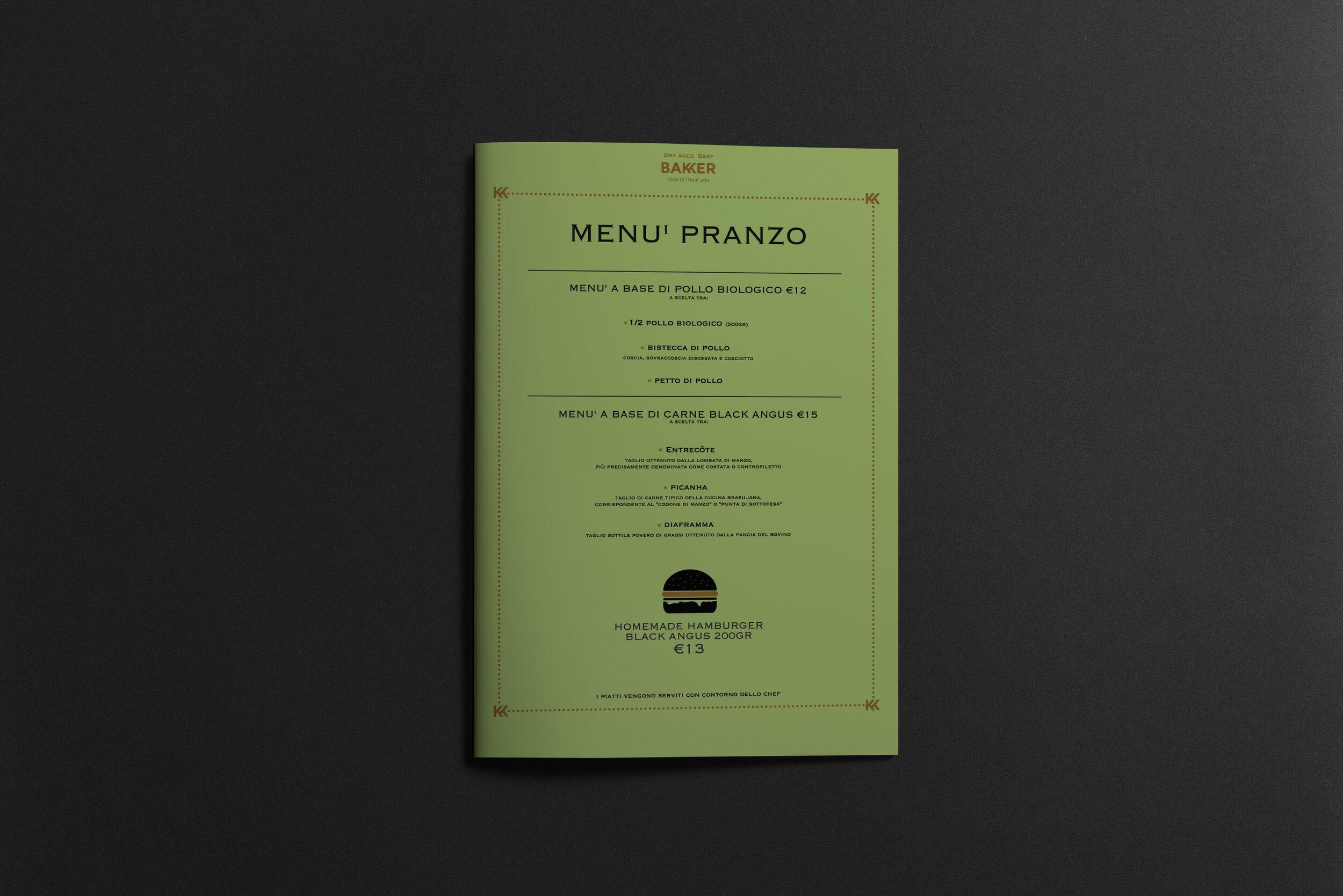 Menù x Bakker Restaurant Milano
