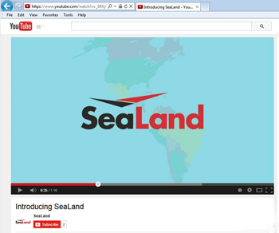 Social Video: SeaLand Youtube channel
