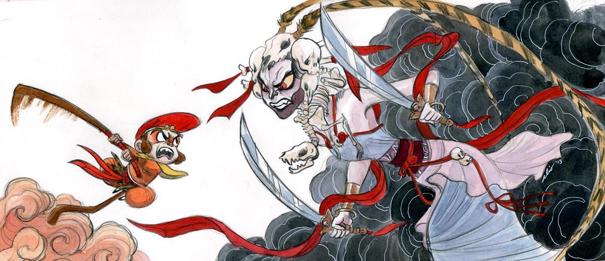 Monkey vs the White Bone Demon