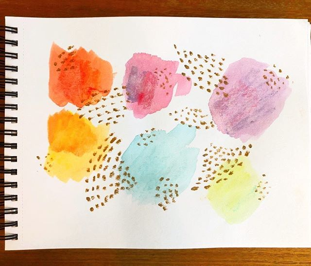 Got some watercolor cream pens for my son and decided to try them myself. Just some random mark making and color experiments. . . .  #dailysketch #sketchbook #watercolor #art #artist #artwork #painting #drawing  #artlife  #artgram #artworks #artstagram  #artlover #sketch #design #designers #designer #illustration #graphicdesign #graphics #drawing #abstractart #saltwashedcreative #makersgonnamake #momlife #markmaking