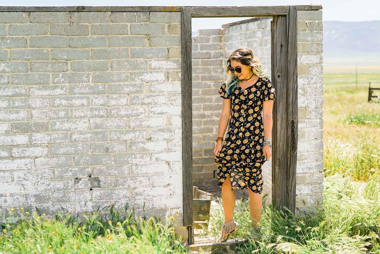 Thrifted Floral Print Dress-5.jpg