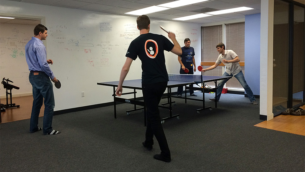 We play a lot of ping pong. A lot.