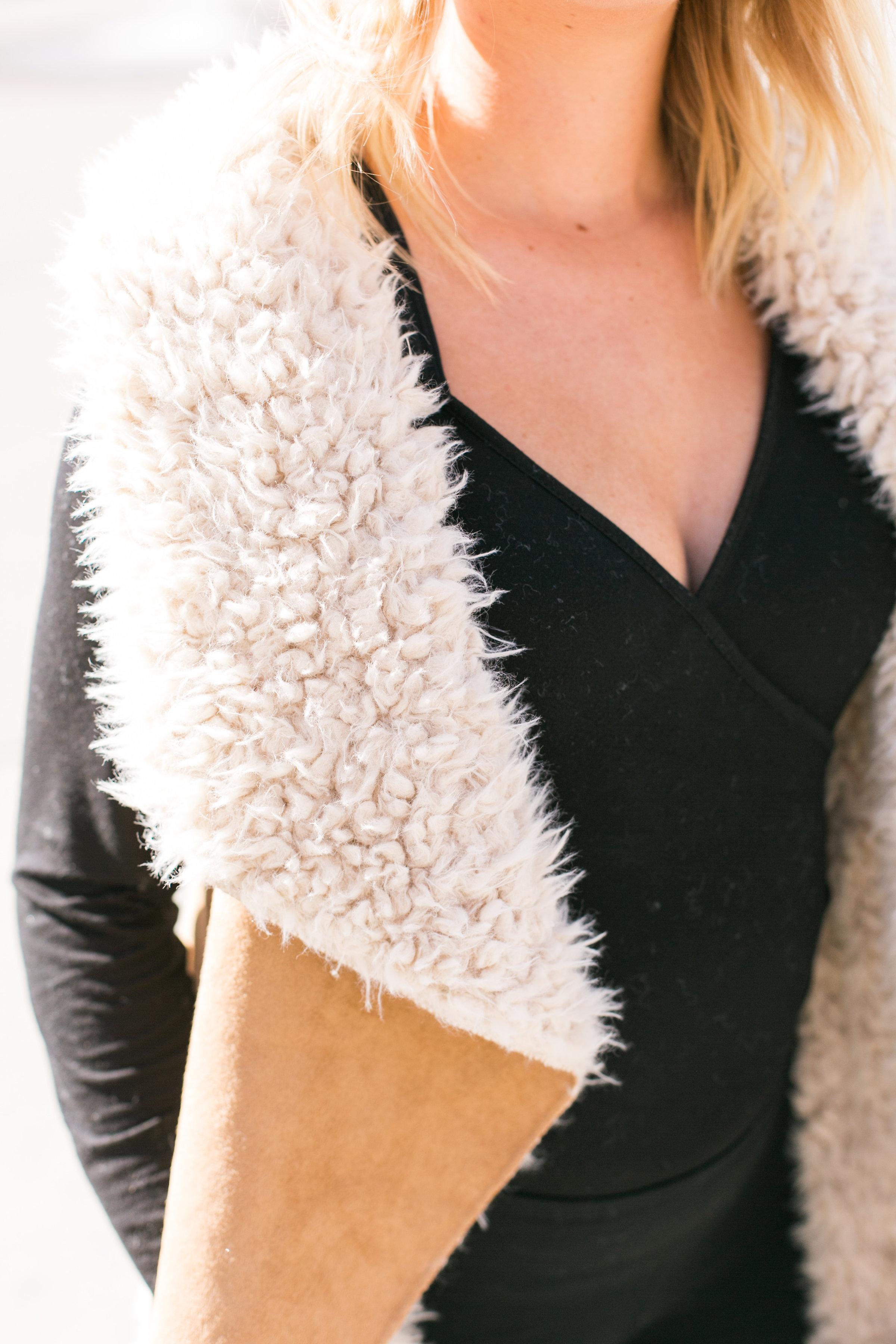 Faux Sheep Vest