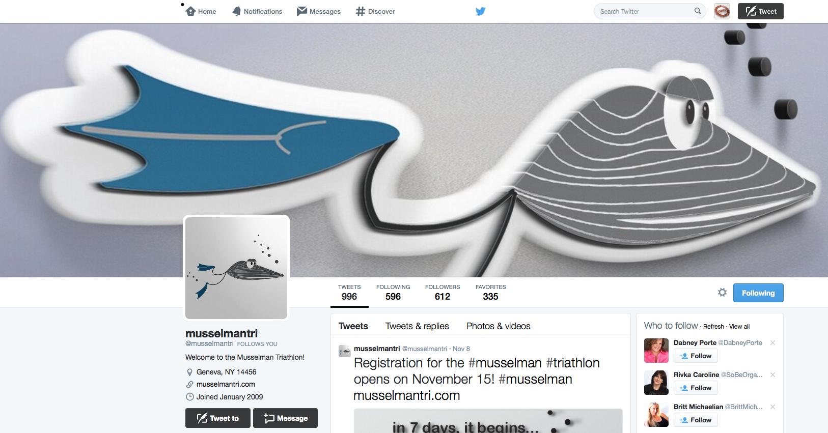 Musselman Triathlon via Twitter