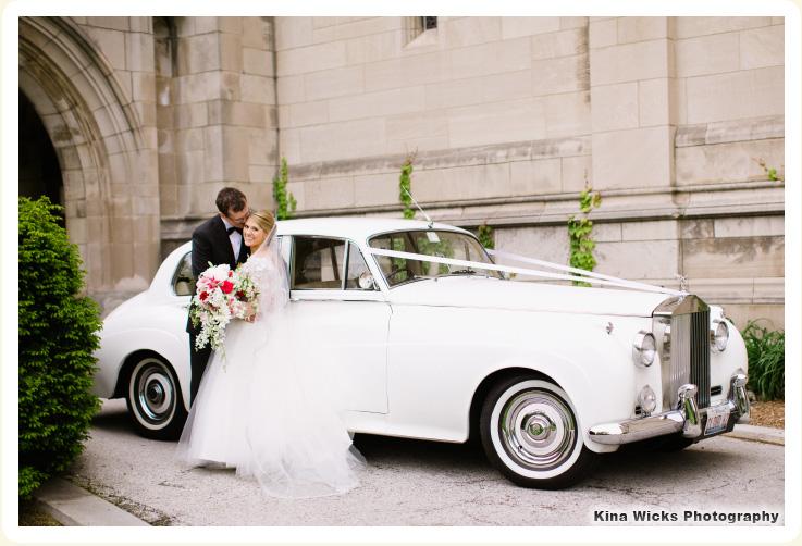 Classic Wedding Car Chicago Sarah Mandel