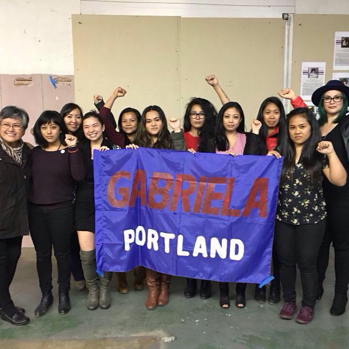 GABRIELA Portland members on their General Assembly. Founding day on March 8th, 2016 (International Working Womxn's Day).