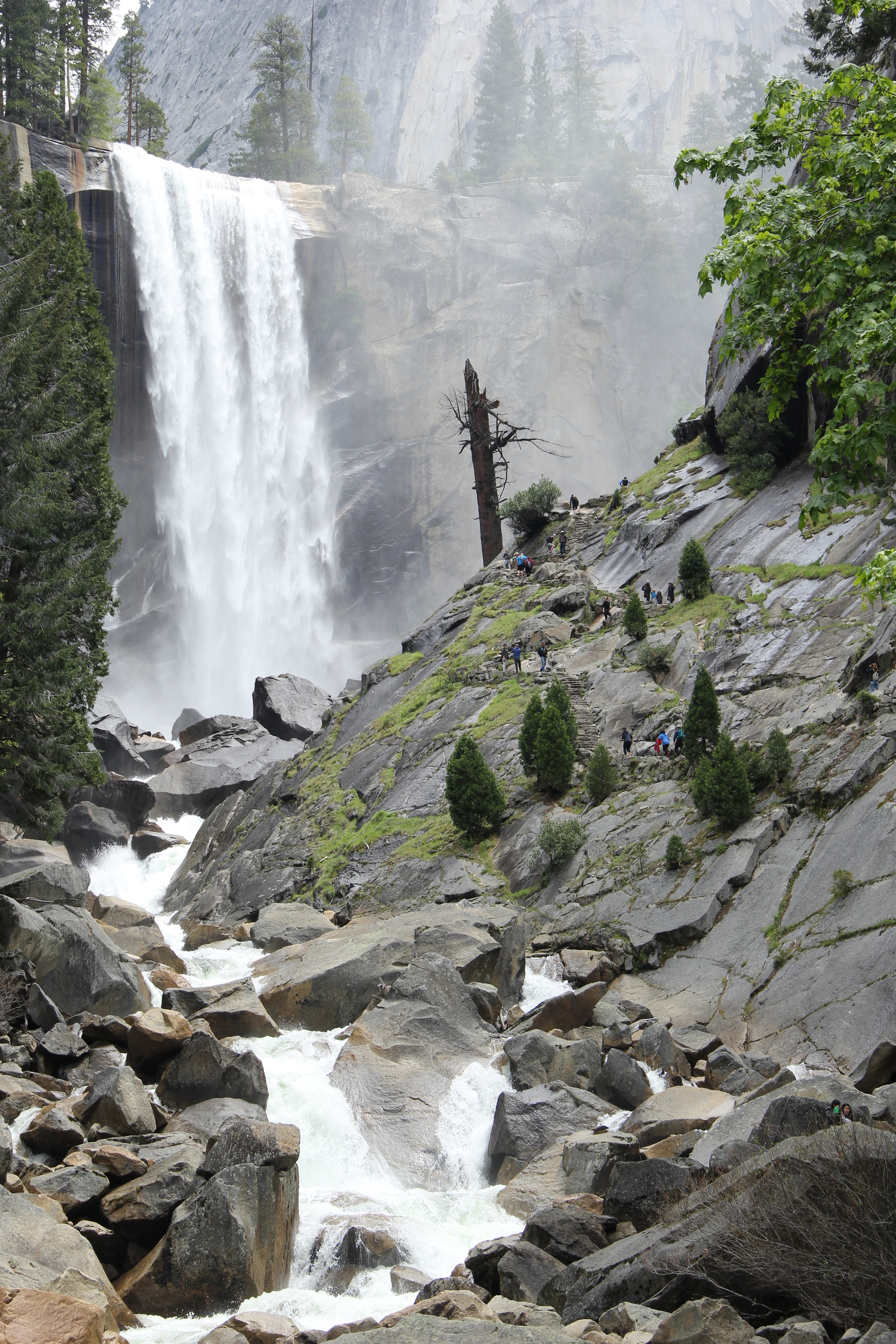 Vernal Falls via Mist Trail in May