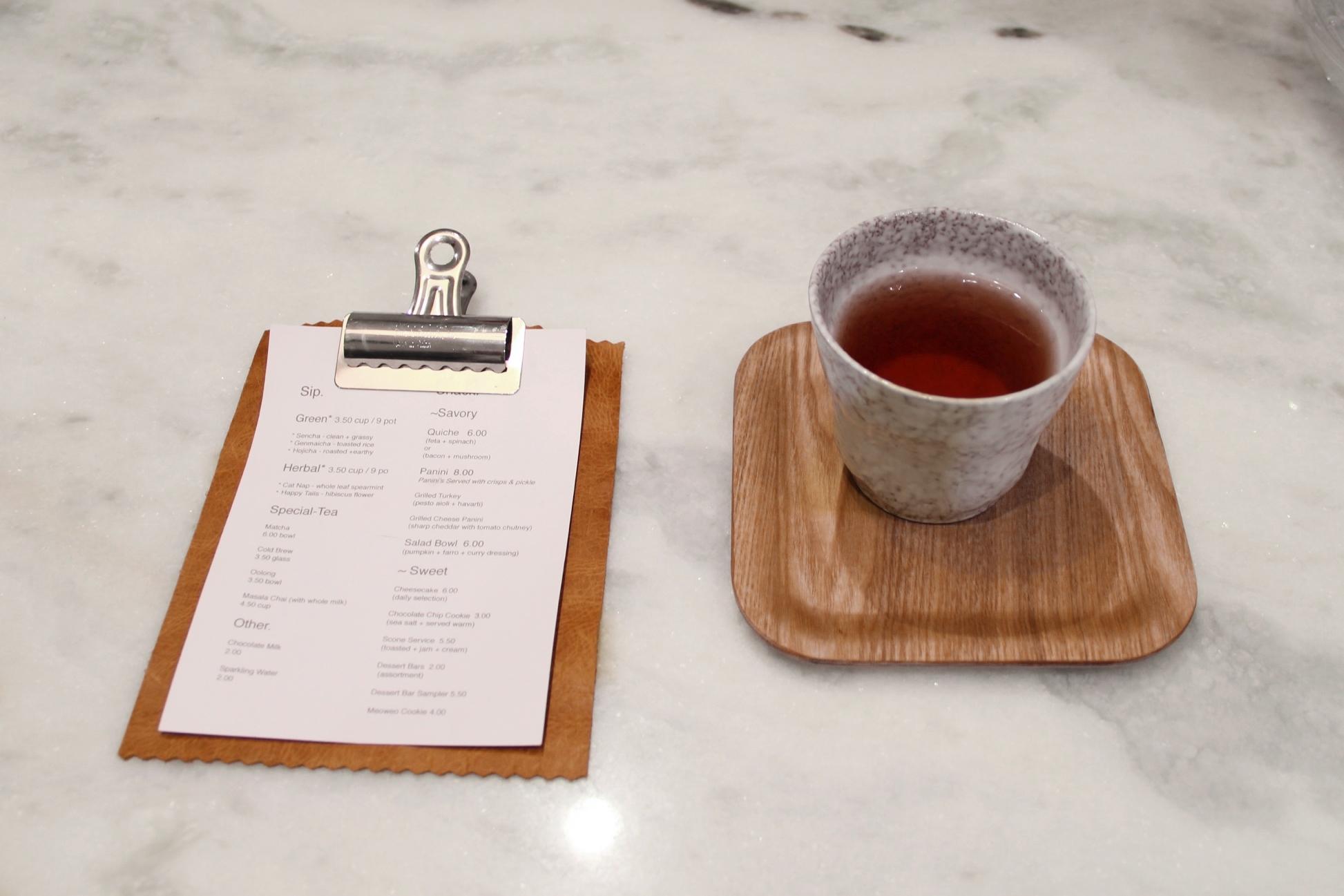 Kit Tea menu