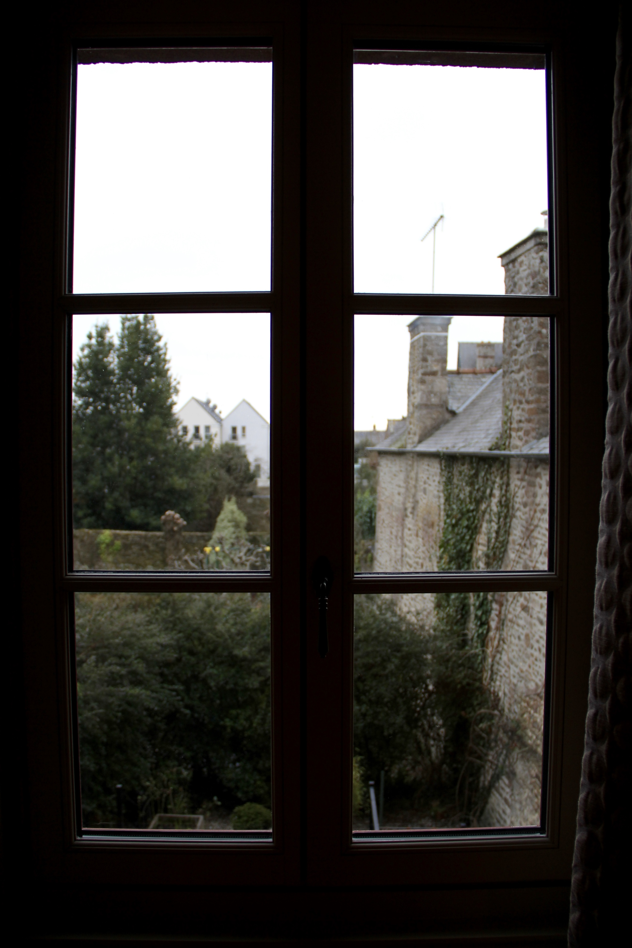 charming paned glass window in our room at La Maison Pavie in Dinan, France