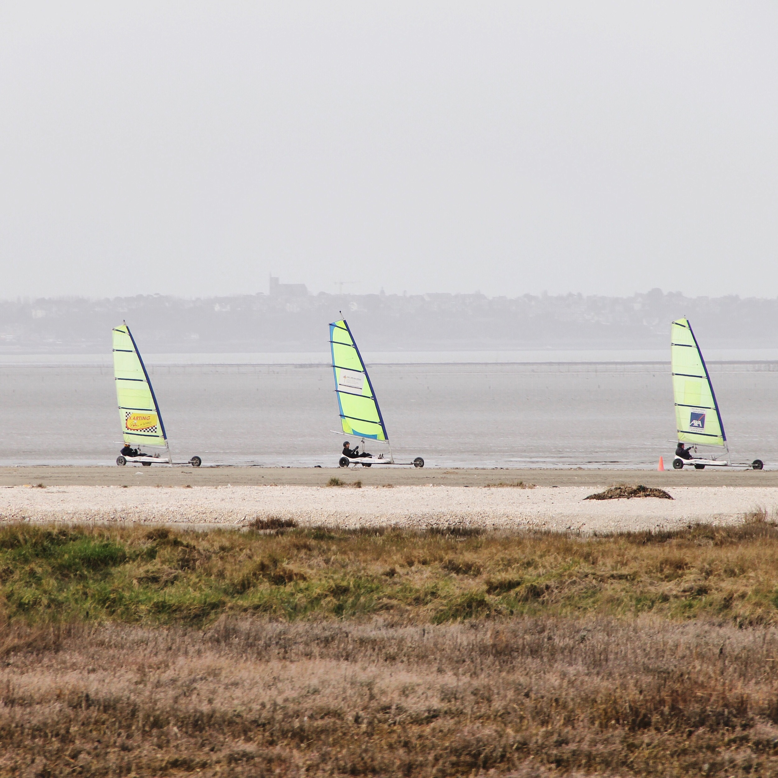 Wind boating along the coast from Mont St Michel to Cancale