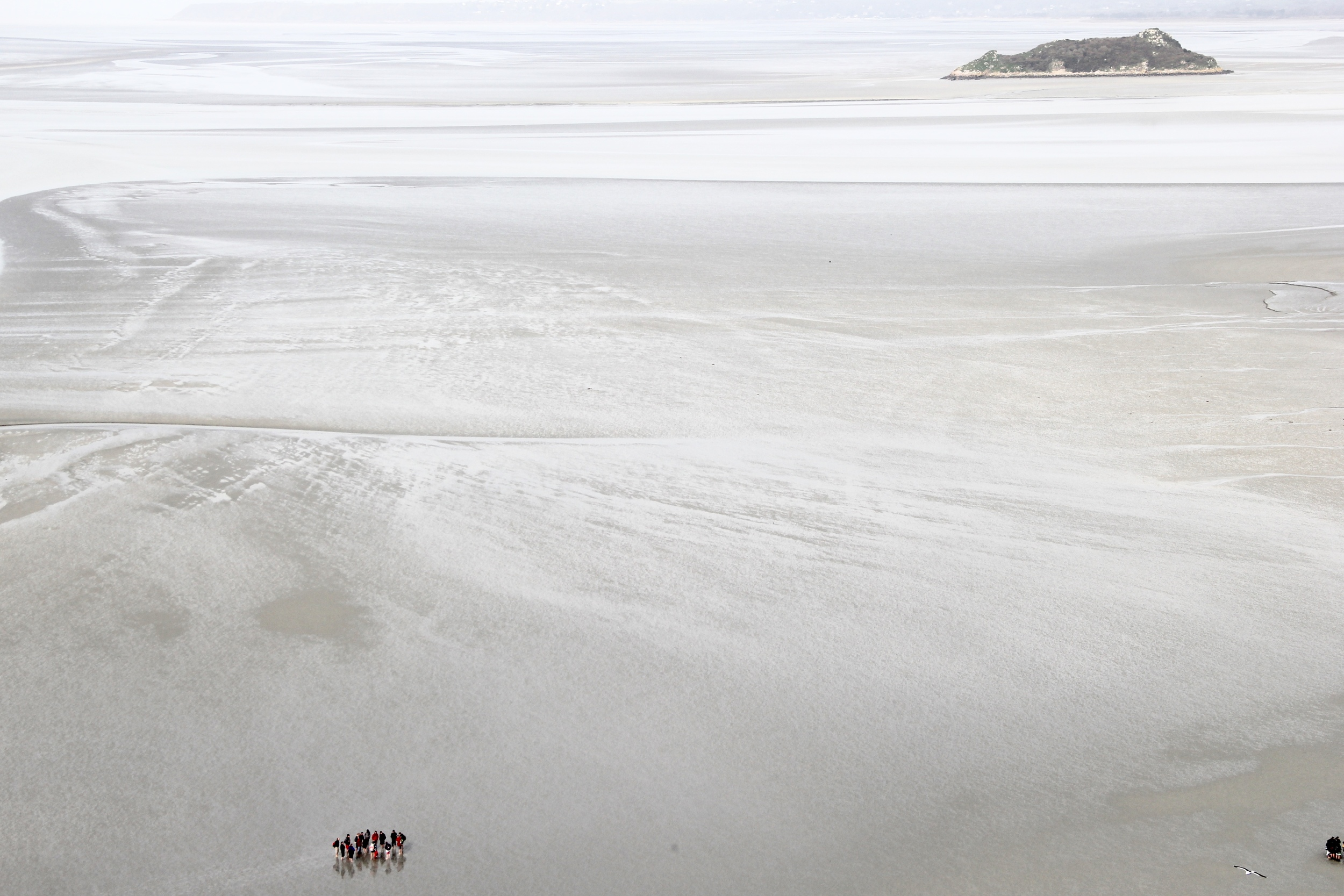 School groups on the tide flats | Mont St Michel