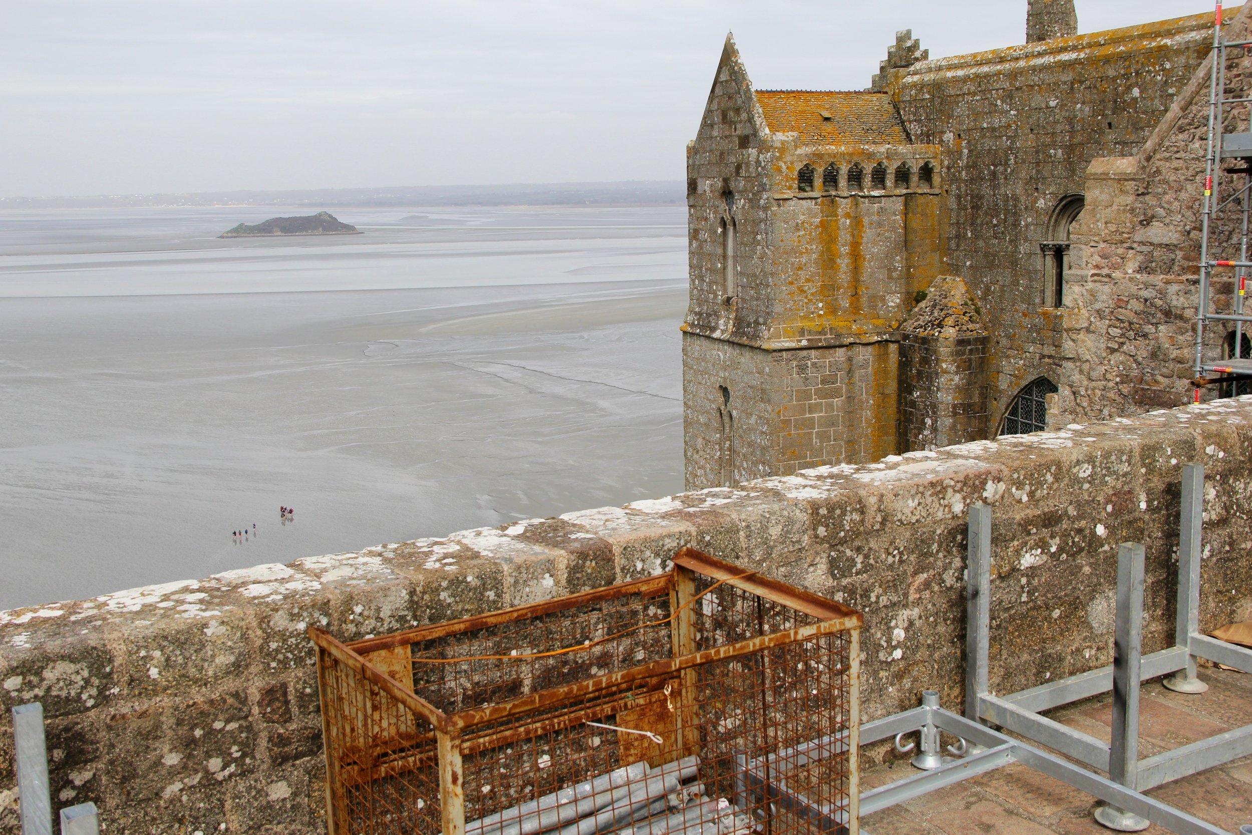 View from the top of Mont St Michel