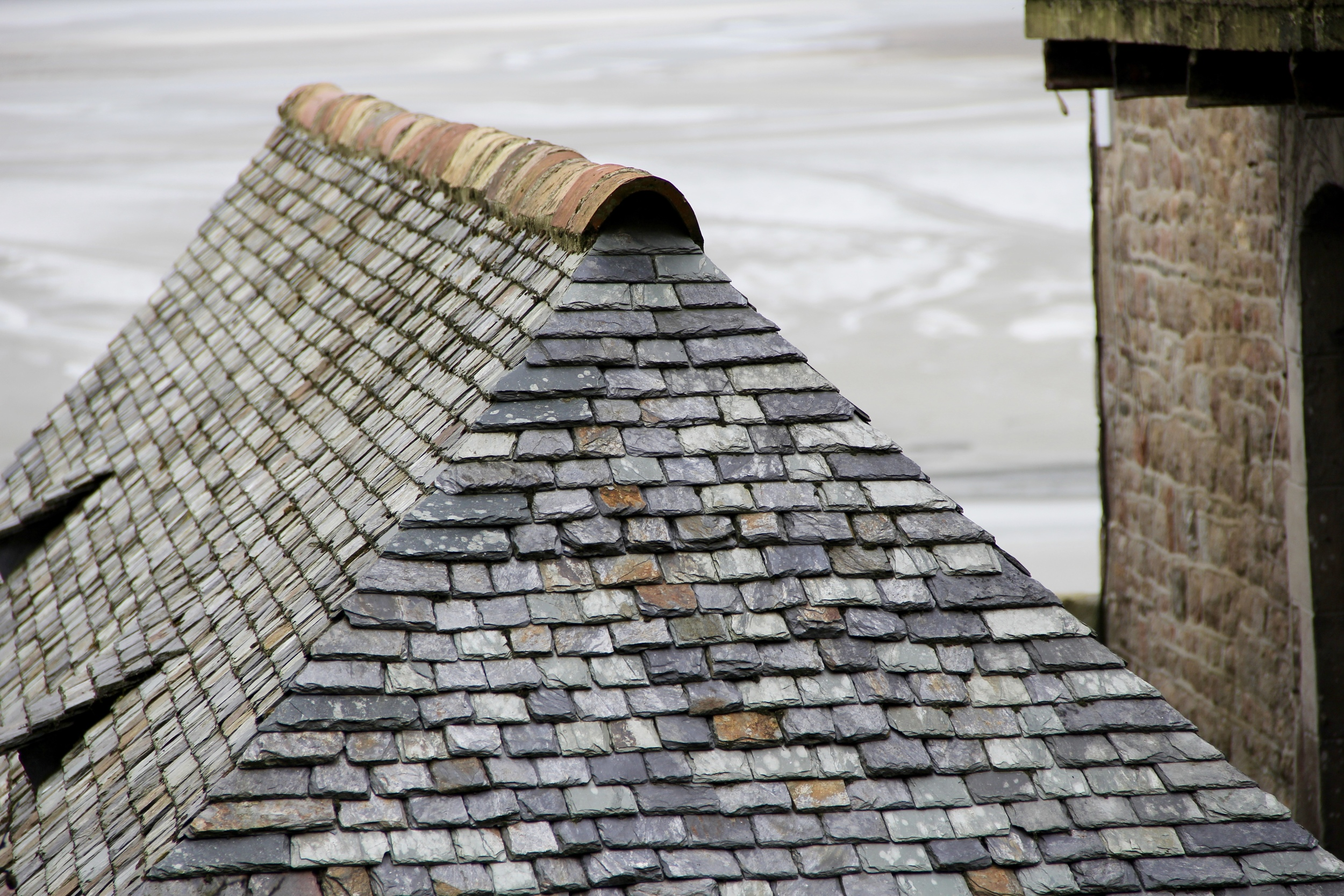 Slate roofs common in the region
