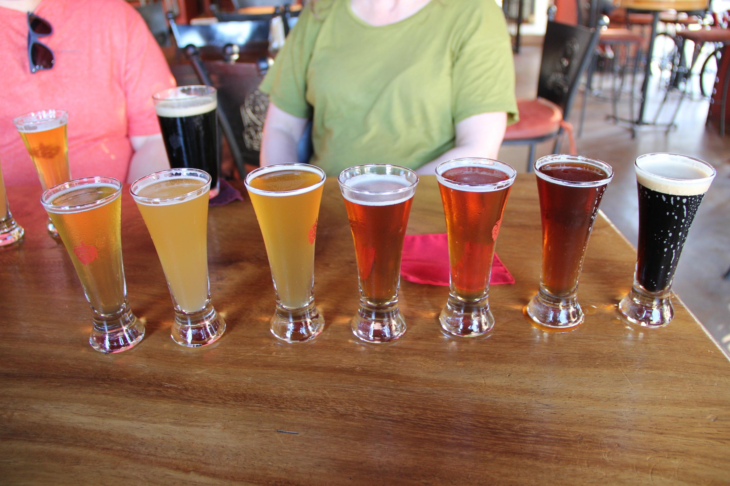 Flight at Los Meurtos Brewery