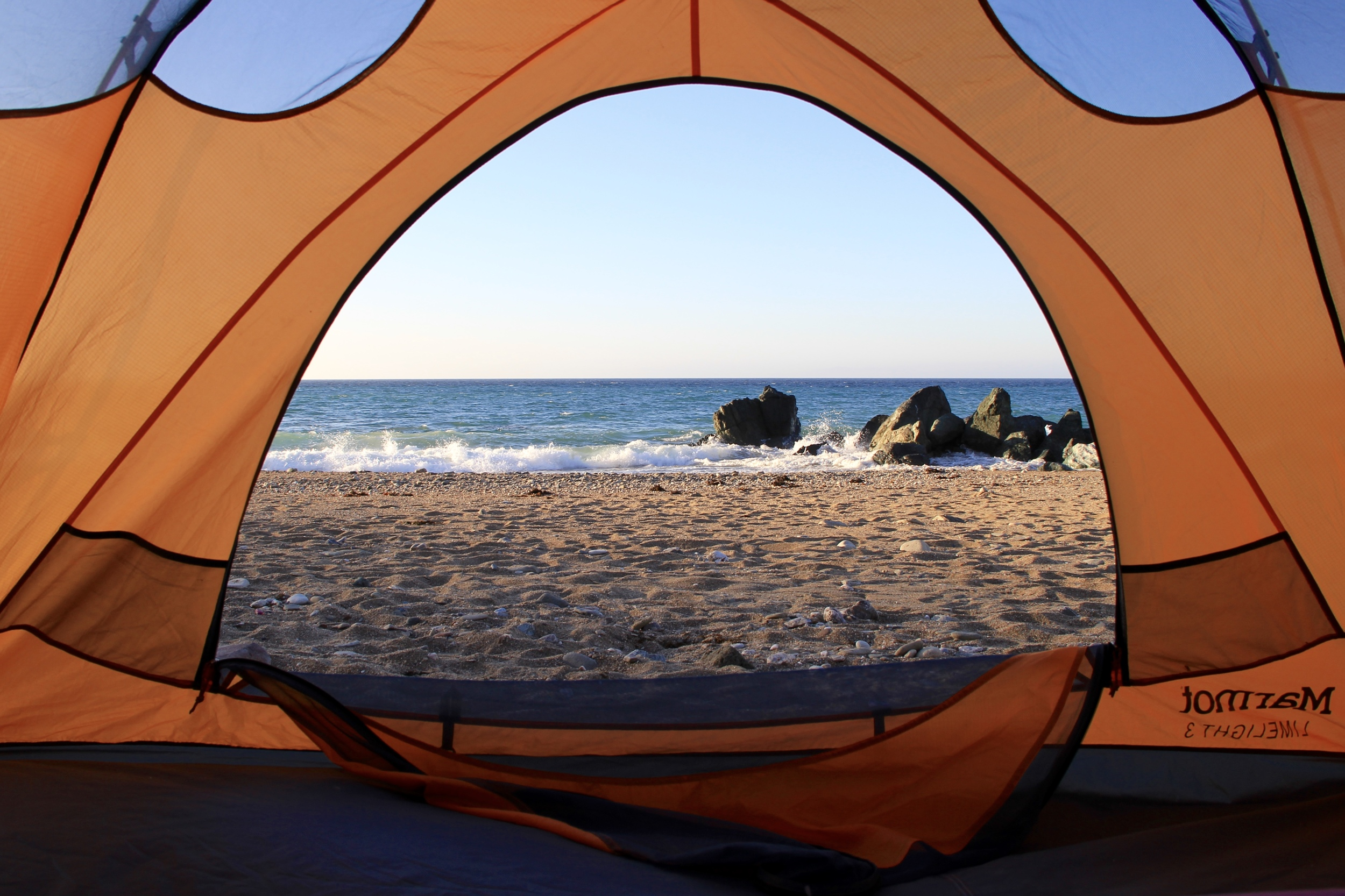 the view from our tent at Parson's Landing | Catalina Island
