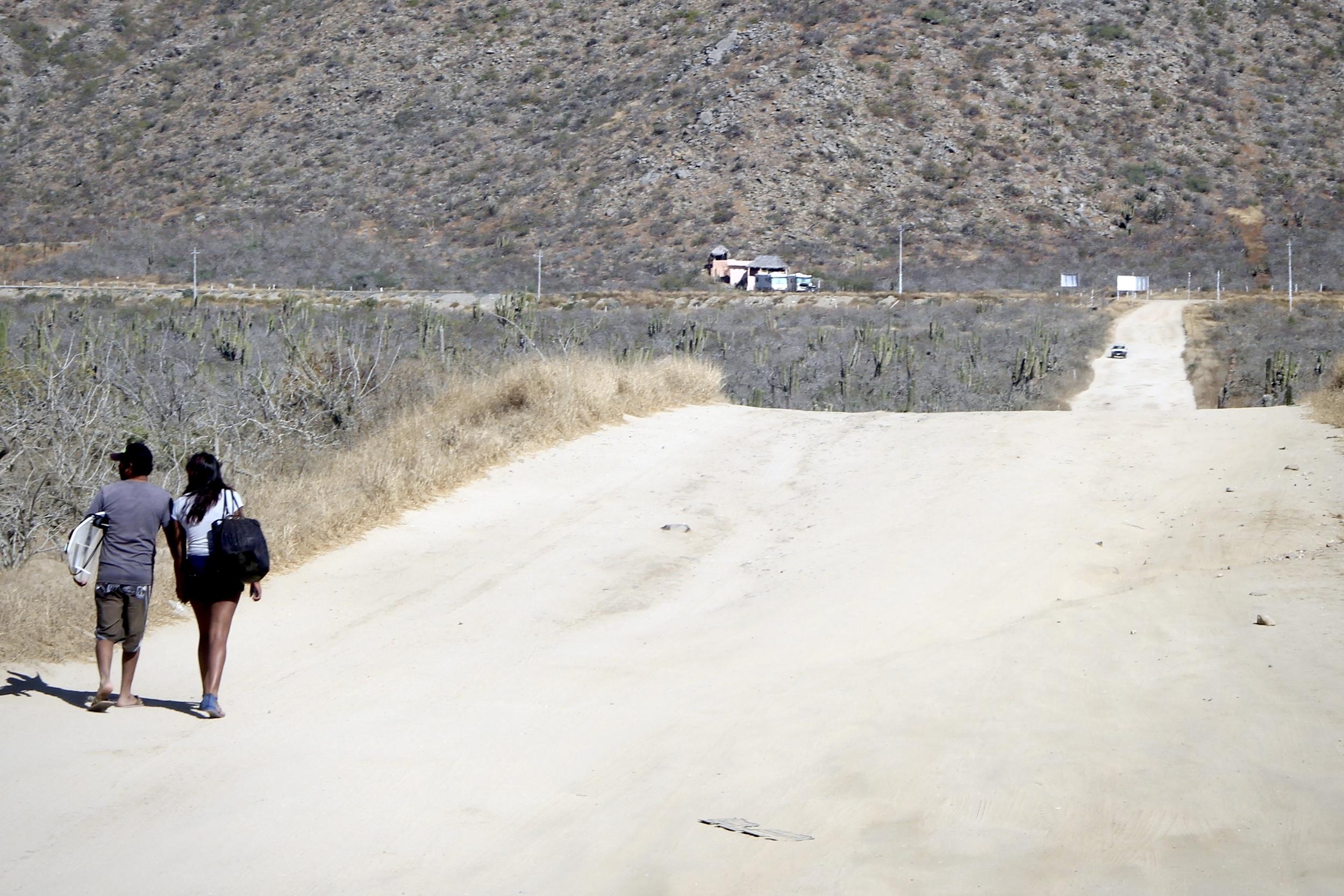 the dusty roads of baja california